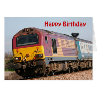 Class 67 diesel loco 67022  Happy Birthday Greeting Cards
