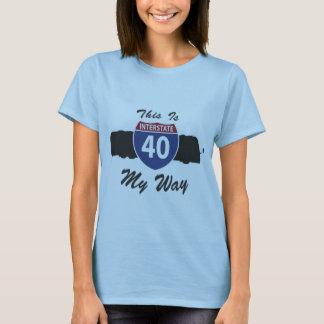 Class A Interstate 40 RV motorhome My Way T-Shirt