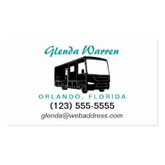 Class A Motorhome / Bus Silhouette Calling Card Business Card Templates