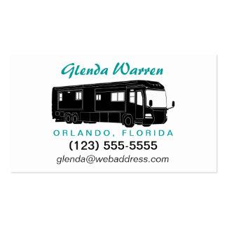 Class A Motorhome / Bus Silhouette Calling Card Business Card