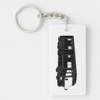 Class A Motorhome / Bus Silhouette on Keychain Acrylic Key Chain