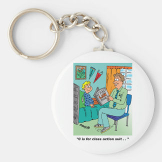 Class Action Cartoon Humor Keychains