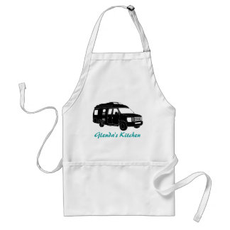Class B Motorhome / Camper Van Silhouette Graphic Adult Apron
