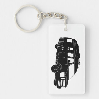 Class B Motorhome / Camper Van Silhouette Keychain Key Chain