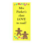 Class bookmark - Love reading Customized Rack Card