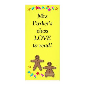 Class bookmark - Love reading Rack Card