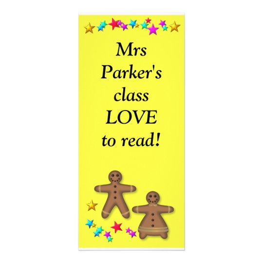 Class bookmark - Love reading Rack Card