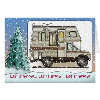 Class C Camper RV Holiday Cards