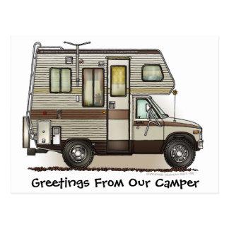 Class C Camper RV Post Cards