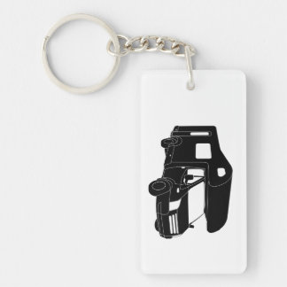 Class C Motorhome Silhouette on Keychain Acrylic Key Chain