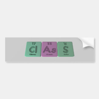 Class-Cl-As-S-Chlorine-Arsenic-Sulfur.png Car Bumper Sticker