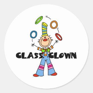Class Clown Classic Round Sticker