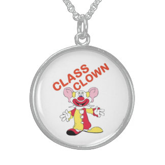 CLASS CLOWN STERLING SILVER NECKLACE