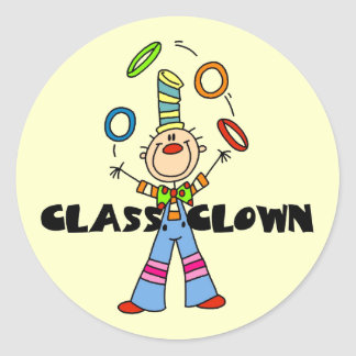 Class Clown Tshirts and Gifts Classic Round Sticker