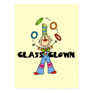 Class Clown Tshirts and Gifts Postcard
