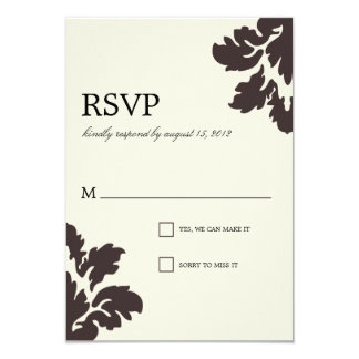 CLASS DAMASK | WEDDING RSVP CARD