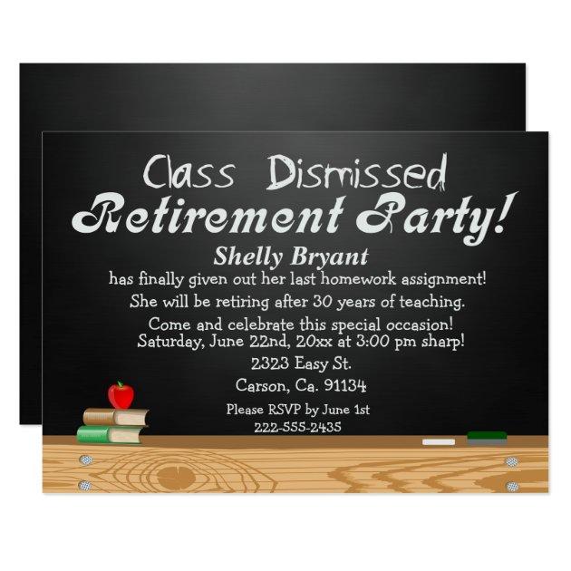 Teacher Retirement Invitations & Announcements | Zazzle