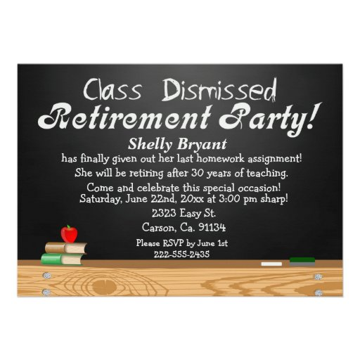 Products you can customize Makers who create & produce Apps to make ...: www.zazzle.com/class_dismissed_chalkboard_teacher_retirement...
