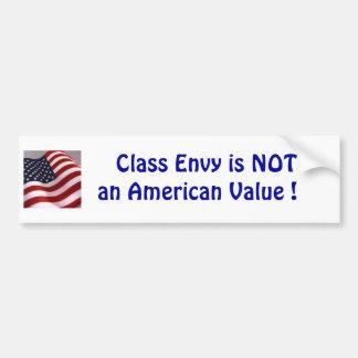 Class envy is not an american value car bumper sticker