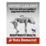 Class Envy - Piggy Bank: Protest Poster