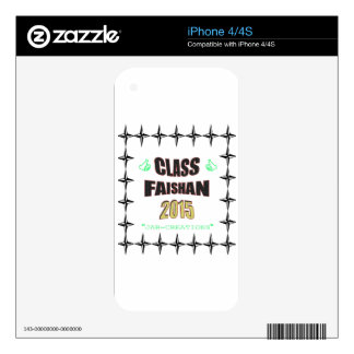 Class Faishan 2015 Image Decal For The iPhone 4S