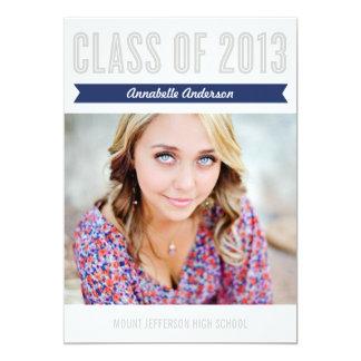 "CLASS FLIRT 2013 | GRADUATION PARTY INVITATION 5"" X 7"" INVITATION CARD"