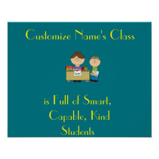 Class full of Students poster