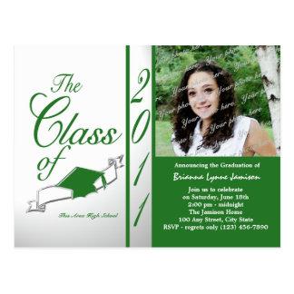 Class Graduation 2011/ Green Postcard