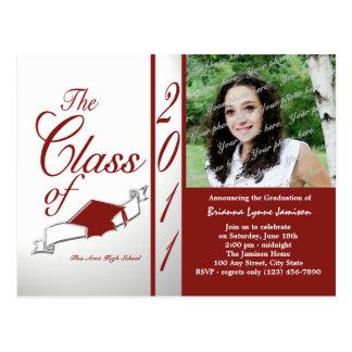 Class Graduation 2011/ Red Postcard