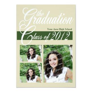 Class Graduation 2012/ Dark Green Card