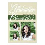 """Class Graduation 2012/ Dark Green 5"""" X 7"""" Invitation Card"""