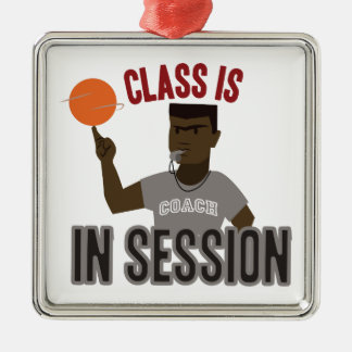 Class in Session Square Metal Christmas Ornament
