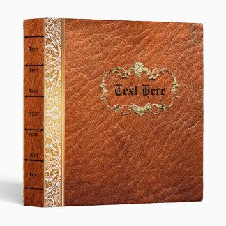 Class Leather 'Look' Old Book Style personalized 3 Ring Binder