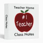 Class Notes for Teacher Vinyl Binders