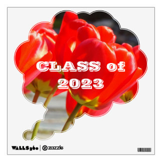 CLASS of 0000 wall decals Thought Bubble Tulips