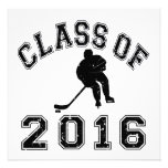 Class Of 016 Hockey - Black 2 Invitation