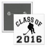 Class Of 016 Hockey - Black 2 Pins