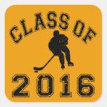 Class Of 016 Hockey - Black 2 Square Sticker