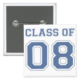 Class of 08 pinback button