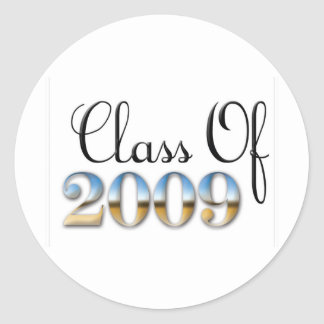 Class of 09 (2) classic round sticker