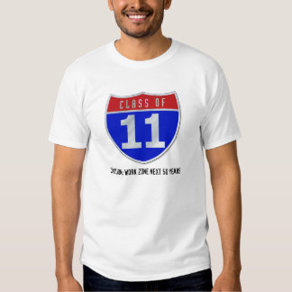 Class of 11 Road Sign Light T-Shirts