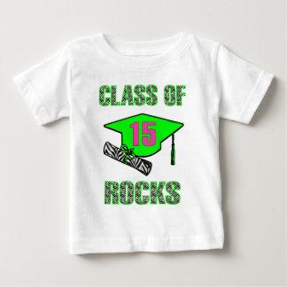 Class of 15 Rocks Zebra -Lime Baby T-Shirt