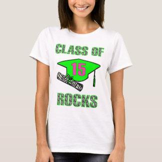 Class of 15 Rocks Zebra -Lime T-Shirt