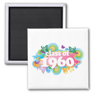 Class of 1960 2 inch square magnet