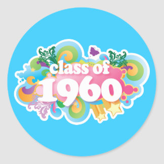 Class of 1960 round stickers