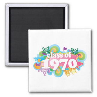 Class of 1970 2 inch square magnet