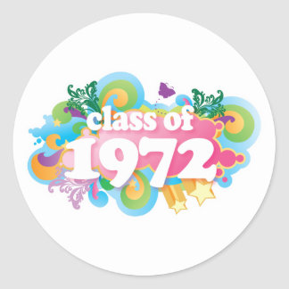 Class of 1972 stickers