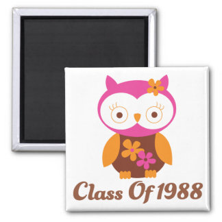 Class of 1988 Reunion 2 Inch Square Magnet