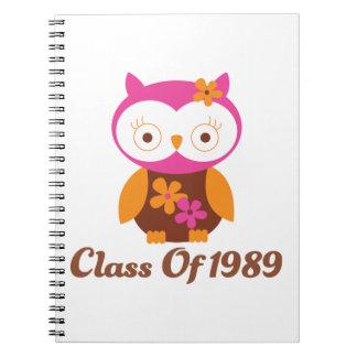 Class of 1989 Reunion Note Book
