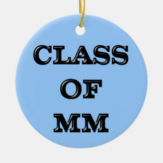 Class of 2000 Double-Sided ceramic round christmas ornament